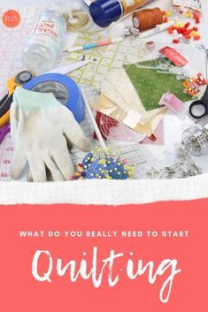 You want to start quilting but all the tools seem so expensive! Do you really need all that? Find out what you REALLY need to get started with my FREE quilting tools checklist. Quilting Tools, Quilting Tutorials, Machine Quilting, Quilting Projects, Quilting For Beginners, Do You Really, Easy Quilts, How To Get, Learning