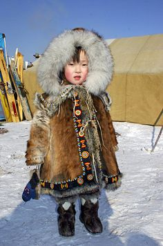 The Sakha (Yakutia) Republic (Russian: Республика Саха (Якутия), tr. Yakut: Саха Өрөспүүбүлүкэтэ, Sakha Öröspǖbülükete) is a federal subject of Russia (a republic). Precious Children, Beautiful Children, Beautiful People, Kids Around The World, People Around The World, Character Inspiration, Character Design, Siberia, Cultural Architecture