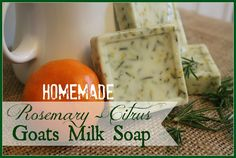 """DIY Homemade Rosemary Citrus Goat Milk Soap {The Everyday Home} """"homemade soap? Really? Who has time for that? YOU do. If you have about 15 minutes prep time you have all the time in the world. And you only need 3-4 ingredients max. I have conquered the world of homemade soap. As God as my witness, I will never buy store-bought soap again. :) """""""