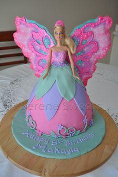 Fairy Birthday Cake 13 Fairy Barbie Doll Cakes Photo Barbie Fairy Birthday Ca. Barbie Fairy Cake, Barbie Doll Birthday Cake, Birthday Cake Girls, Princess Birthday Cakes, Barbie Party, 21st Birthday, Birthday Ideas, Garden Birthday Cake, Fairy Birthday Party