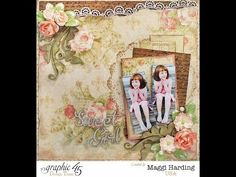 Learn how to make a Baby 2 Bride layout with a video tutorial by Maggi #graphic45