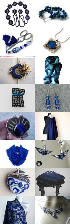 Smashing Blue Items by Lisa Gossman-Steeves on Etsy--Pinned with TreasuryPin.com