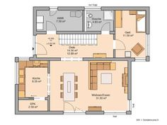 Core-house family house futura floor plan, first floor Flat Roof, Pent House, Home Hacks, House Plans, Home And Family, Sweet Home, New Homes, Floor Plans, Layout