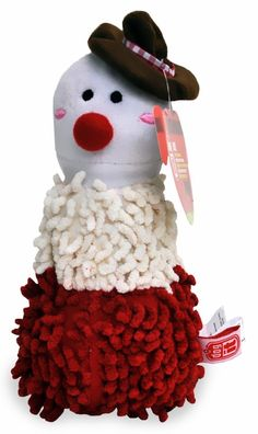 Dogit Shaggy Plush Snowman goes great in your pet's stocking as he/she would like nothing better than to find this cute and cuddly toy on Christmas morning. Features shaggy fur and a squeaker that your pet will surely love! Decked out in his holiday best, this adorable plush toy makes the perfect gift for your beloved canine companion.
