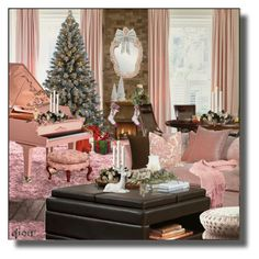 """""""Christmas decoration No 1"""" by qiou ❤ liked on Polyvore featuring interior, interiors, interior design, home, home decor, interior decorating and Holiday"""