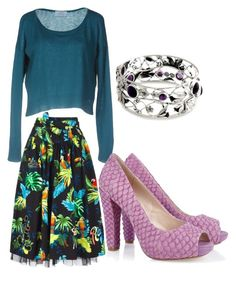 """""""Untitled #1004"""" by bellagioia ❤ liked on Polyvore featuring Marc Jacobs, Prada, NOVICA and House of Harlow 1960"""