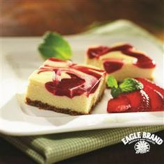 #Berry #Cheesecake Bars from Eagle Brand®