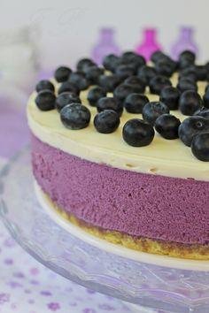 Tarta de arándanos y cobertura de chocolate blanco :: Borůvkový dort s polevou z bílé čokolády