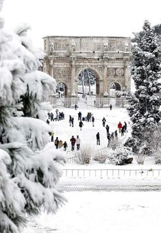 Rome under the snow.I want to go see this place one day.Please check out my website thanks. www.photopix.co.nz