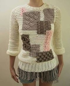 Wonderful modern twist of crochet.
