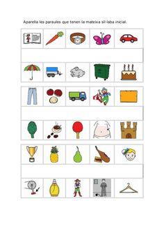 Activitats conciencia fonològica (català) Preschool Activities, Art Lessons, Acting, Kindergarten, Muhammad, Board, Decor, Teaching Supplies, Home