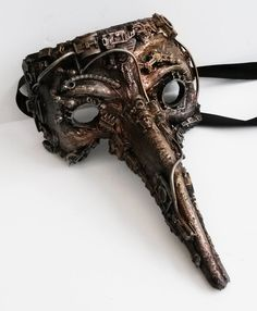Steampunk - Hand made unique venetian mask