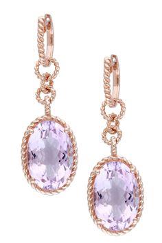 Rose de France Linked Drop Earrings