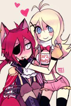 fnaf foxy anime sometimes im like why do they ship foxy and old bonnie/bonnie…