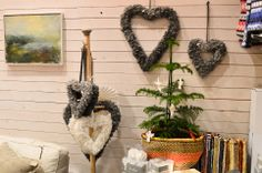 Nya juliga ullhjärtan i butiken