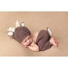 Xmas Deer Design Toddler Infant Crochet Hats with ears Knitted pants with tails Costume Newborn Photography Shoots Set #>=#>=#>=#>=#> Click on the pin to check out discount price, color, size, shipping, etc. Save and like it!