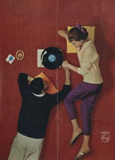 Philips gramophone poster from 1962