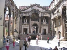 Croatia, Split, The site was first settled when, at the end of the third century AD, the Roman Emperor Diocletian built his palace here.