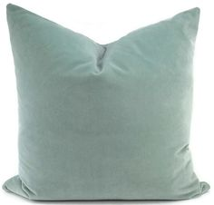 This beautiful aqua velvet pillow cover has the same fabric on both sides. This soft, soothing color works well with so many colors! Add it to a