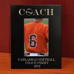 70acfb45160 Softball Engraved Picture Frame - Coach | ChalkTalkSPORTS