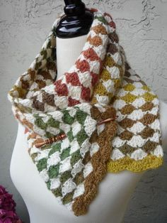 Diamond Exchange Crochet Scarf -KnitPicks.com $1.99