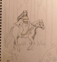 1 hour sketch for #sketchfest. May put this up for sale. Topic was #Epona a goddess associated with horses. I dressed her loosely in iron age costume and probably got all the harnesses and stuff wrong but that's fantasy art  #goddess #celts #celtics #mythology #ink #drawing #fantasyart #artistsoninstagram