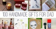 100 Handmade Gifts for Dad. #fathersday