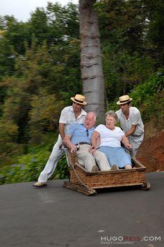 Welcome to FUNchal (Madeira). Toboggan ride. Photo by Hugo Reis