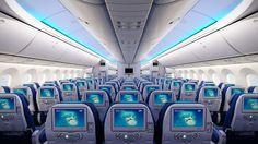 Economy seats in our new Dreamliner |  Fotele w klasie economy w naszym nowym Dreamlinerze.