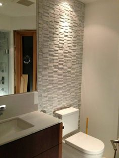White, grey and walnut bathroom designed by Carol Reed Design