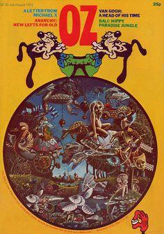 cover Oz magazine 1972