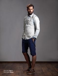 Jean Shirt: Fino 3 Short Pants: Benny  Discover Men's collection at www.staff-jeans.com/look-book-men/