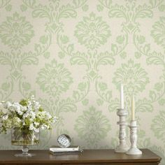 Bring a contemporary and classic touch to any room in your home by using this Green Aurora Wallpaper From Graham & Brown. Decor, Wallpaper Decor, Wallpaper, Home Decor Decals, Wallpaper Border, Diy And Home Improvement, Grey Wallpaper, Home Decor, The Home Depot