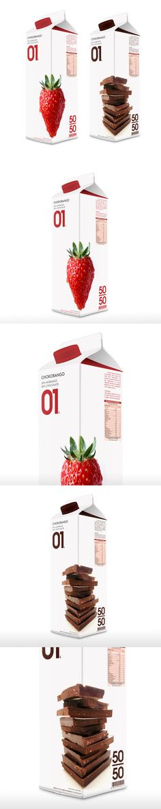 Strawberry and Chocolat milk Packaging Dairy Packaging, Clever Packaging, Fruit Packaging, Beverage Packaging, Pretty Packaging, Brand Packaging, Design Packaging, Product Packaging, Label Design