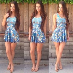 Babe Alert! Hannah Stocking wearing our Almond Blossom skater dress.