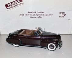 Danbury Mint 1/24 Car 1941 Chevrolet Special Deluxe Convertible Limited Edition