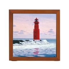 Icy Waters Lighthouse Desk Organizers http://www.zazzle.com/icy_waters_lighthouse_desk_organizers-256455022134662540