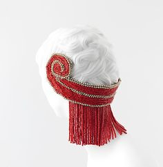 Headdress | Paul Poiret (French, 1879-1944) | France, ca. 1920 | Materials: cotton, metal, ceramic | The Metropolitan Museum of Art, New York
