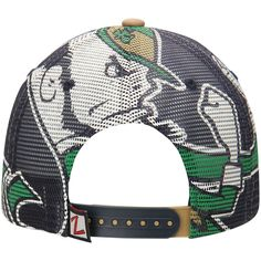 064e1bca Notre Dame Fighting Irish Zephyr NCAA Screenplay Trucker Adjustable Hat -  Navy