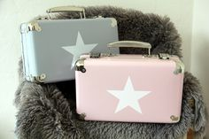 Suitcase with white star by Suitcase, Stars, Box, Snare Drum, Sterne, Briefcase, Star
