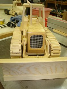 Frontal view of Dozer with blade down