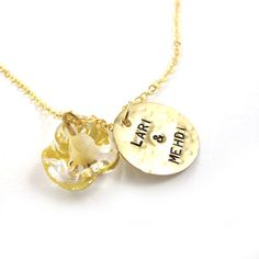 Handstamped Necklace  Personalized Necklace  by SariGlassman, $52.00