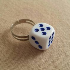 Check out this item in my Etsy shop https://www.etsy.com/listing/239257879/dice-ring-adjustable-sizes-l-n-medium
