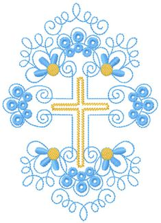 Gold Cross free embroidery design - Decoration free embroidery designs - Machine embroidery community