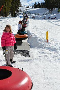Boreal's Snow Tubing Park at Playland • Lake Tahoe Guide to winter fun.