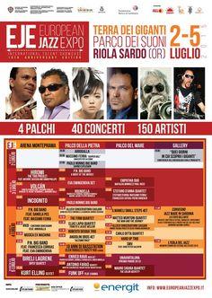 EUROPEAN JAZZ EXPO' 2015- PROGRAMMA COMPLETO – RIOLA SARDO -2-5 LUGLIO 2015