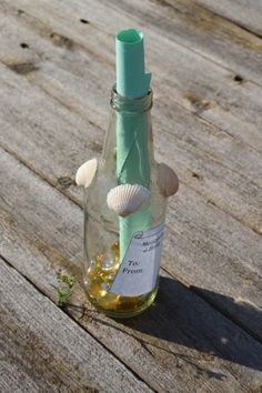 New Listing Gift for Him / Message in a Bottle by TwinseyWhimsy on Etsy, $10.00