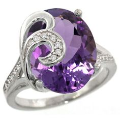 14k White Gold Natural Amethyst Ring 16×12 mm Oval Shape Diamond Accent, 5/8 inch wide, size 7 by Gabriella Gold - See more at: http://blackdiamondgemstone.com/colored-diamonds/jewelry/wedding-anniversary/engagement-rings/14k-white-gold-natural-amethyst-ring-16x12-mm-oval-shape-diamond-accent-58-inch-wide-size-7-com/#sthash.0B5Svn3j.dpuf
