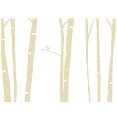 Outlet: Birch Trees (wall decal from WallWritten.com).