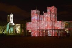 Pixel Cloud, proyecto de arquitectura lumínica de Marcos Zotes instalado en Reikjavik.